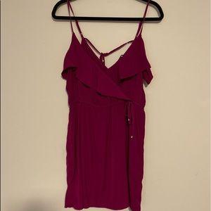 American Eagle Purple Spaghetti Strap Strap Dress